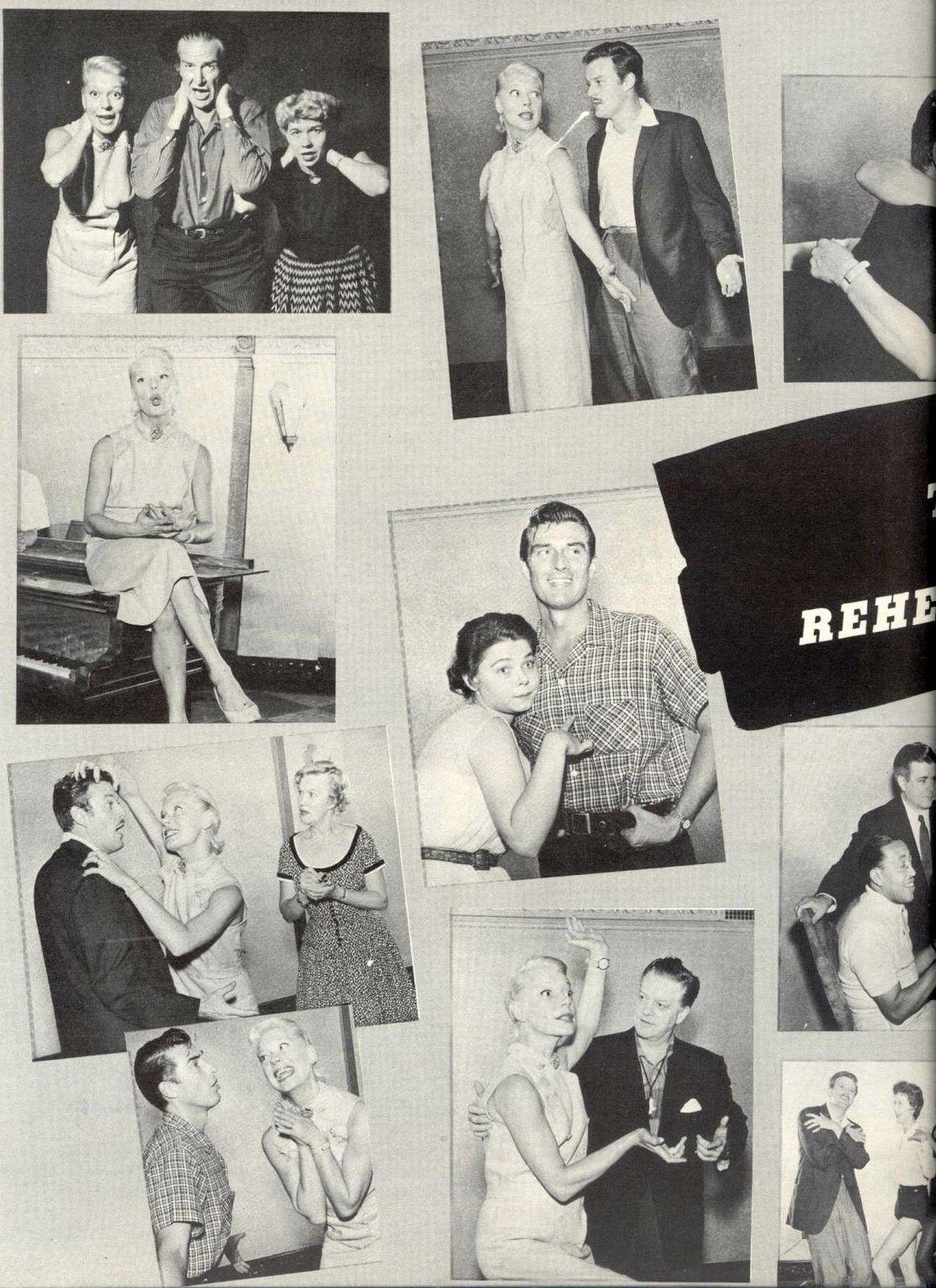 "Carol Channing ""Delilah"" (The Vamp) Souvenir Program Pre-Broadway rehearsal photos 1955 d"