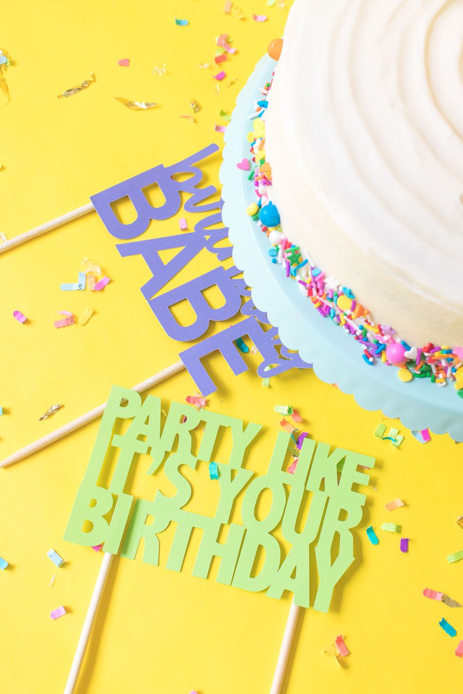 Printable Cake Toppers for Birthdays (+ Free SVG Templates!)