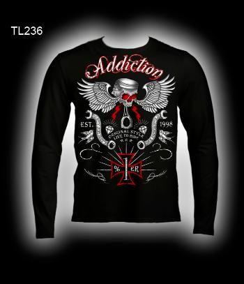 8d1638336 biker long sleeve t-shirts, biker shirts, motorcycle long sleeve t-shirts,  motorcycle clothing, addiction brand motorcycle clothing