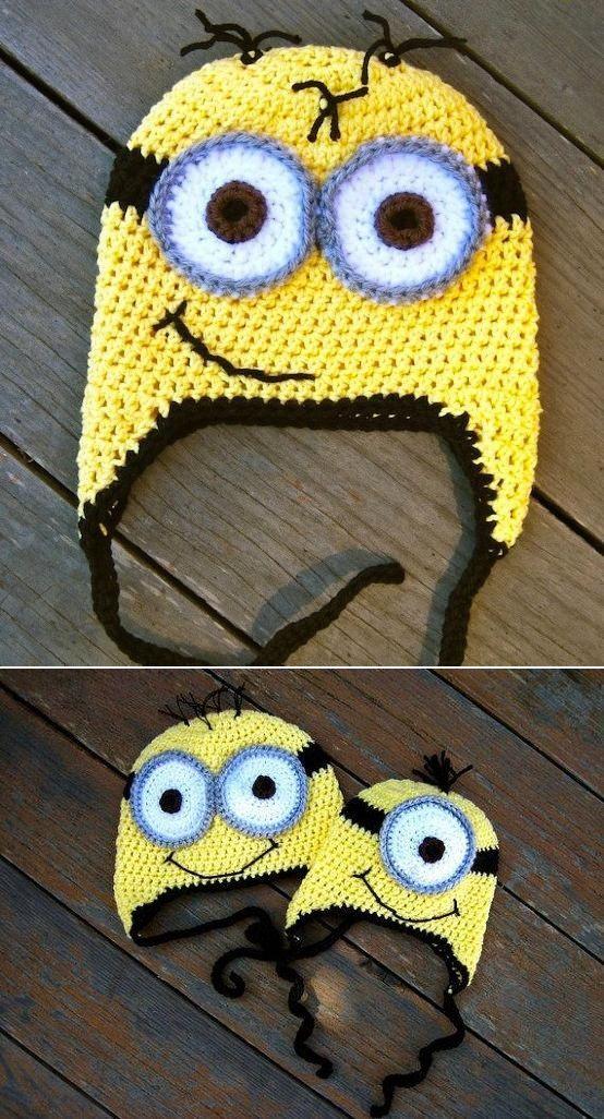 Despicable Me Minion Crochet Hat Pattern | Gorros, Tejido y Gorritas ...