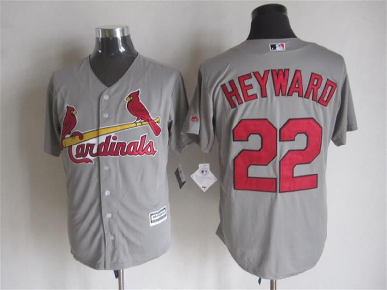 Men's St. Louis Cardinals #22 Jason Heyward Gray Jersey