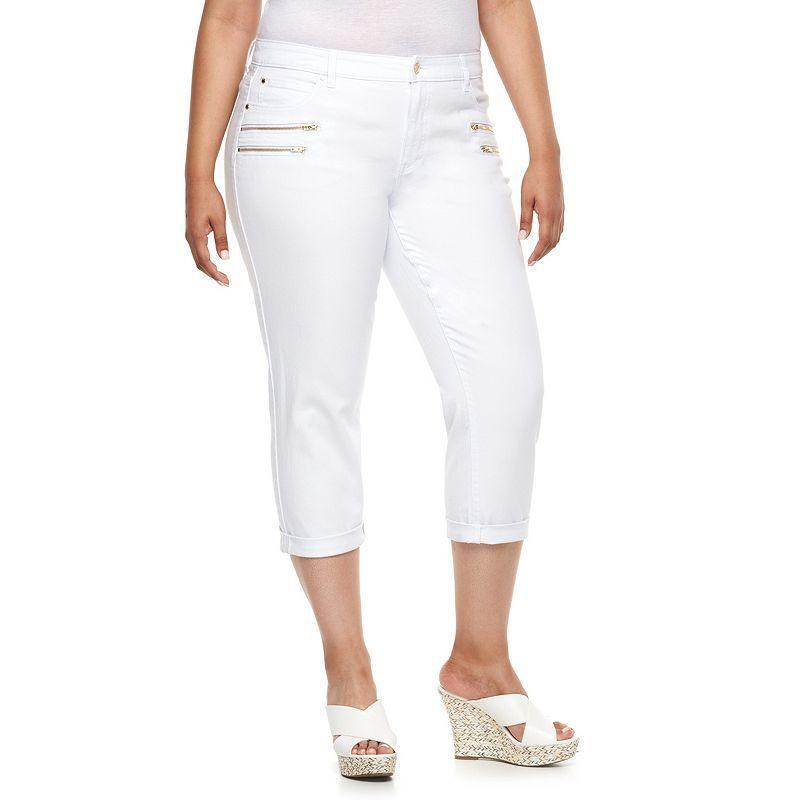 68f92a05515 Plus Size Jennifer Lopez Modern Fit Cuffed Skinny Capri Jeans ...