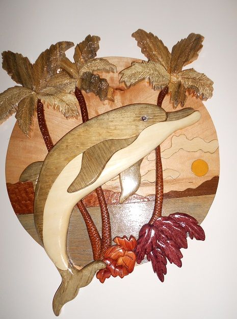 Intarsia Dolphin Madd With Pine Aspen 16 Quot Diameter