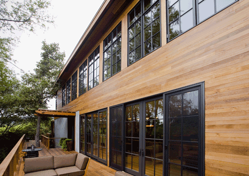 Paint or stain cedar siding how to finish western red - Exterior wall finishes for homes ...