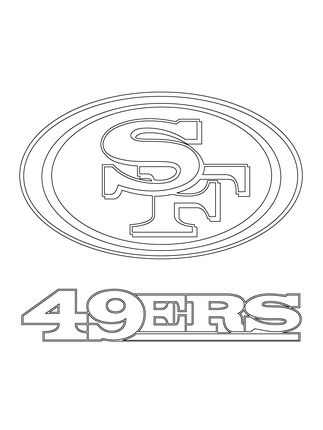 49ERSfreestencil San Francisco 49ers Logo coloring page 49ers