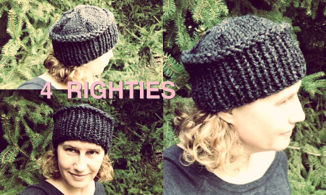 Watch How To Knit Flat Top Hat - Fast Project (4 RIGHTIES)  e1af9d38a14