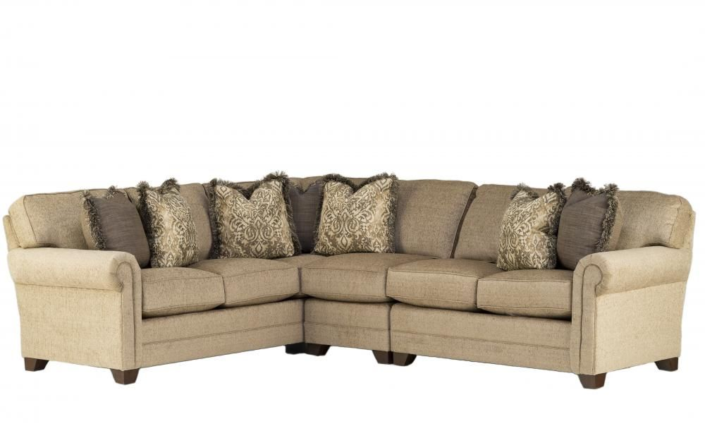 Large Pewter Bentley Sectional By King Hickory Furniture Company