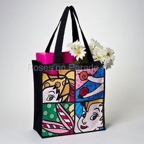 AUTHENTIC BRITTO DISNEY TINKER BELL COATED CANVAS SHOULDER TOTE BAG NWT #ENESCO #ShoulderBag