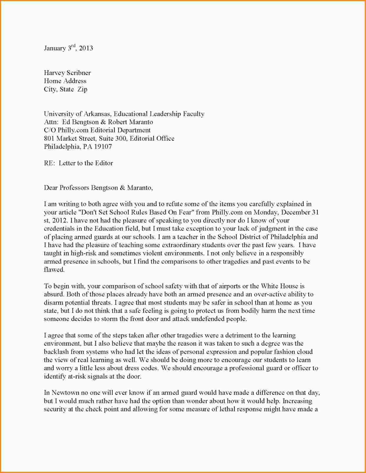 Editor Letter Sample