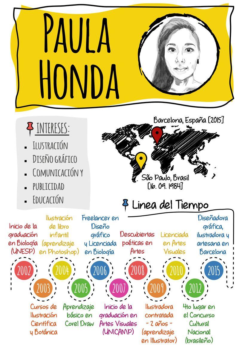 "Mi Currículum Creativo"". Un proyecto de Paula Honda | Pinterest ..."