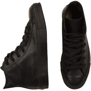 Converse Leather Hi Black Mono | Zapatos