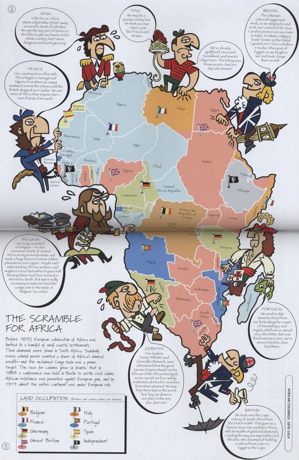 This map shows the scramble for africa in action when almost all of this map shows the scramble for africa in action when almost all of the european countries were invading occupying and claiming parts of africa during gumiabroncs Gallery