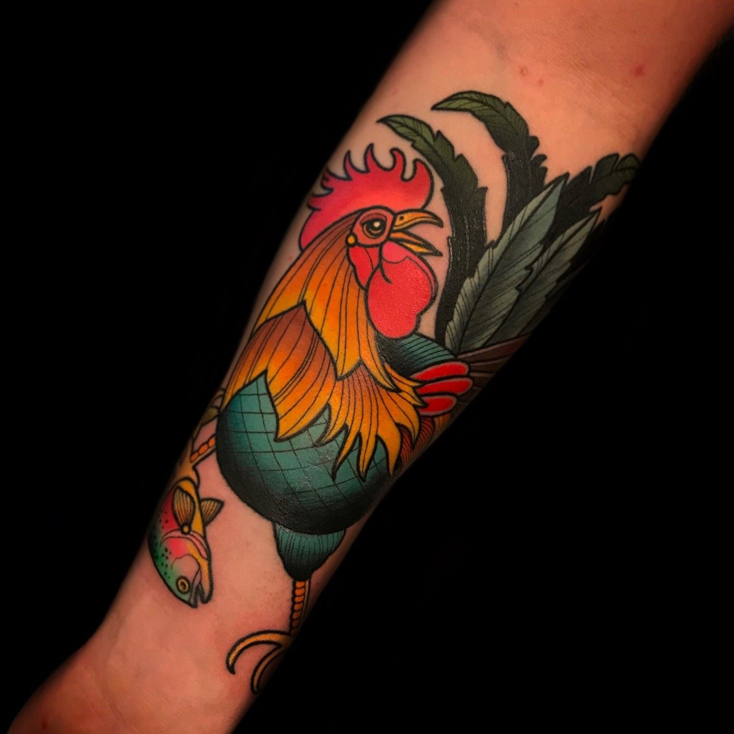 rooster tattoo by tattoo artist dave wah at stay humble tattoo ...