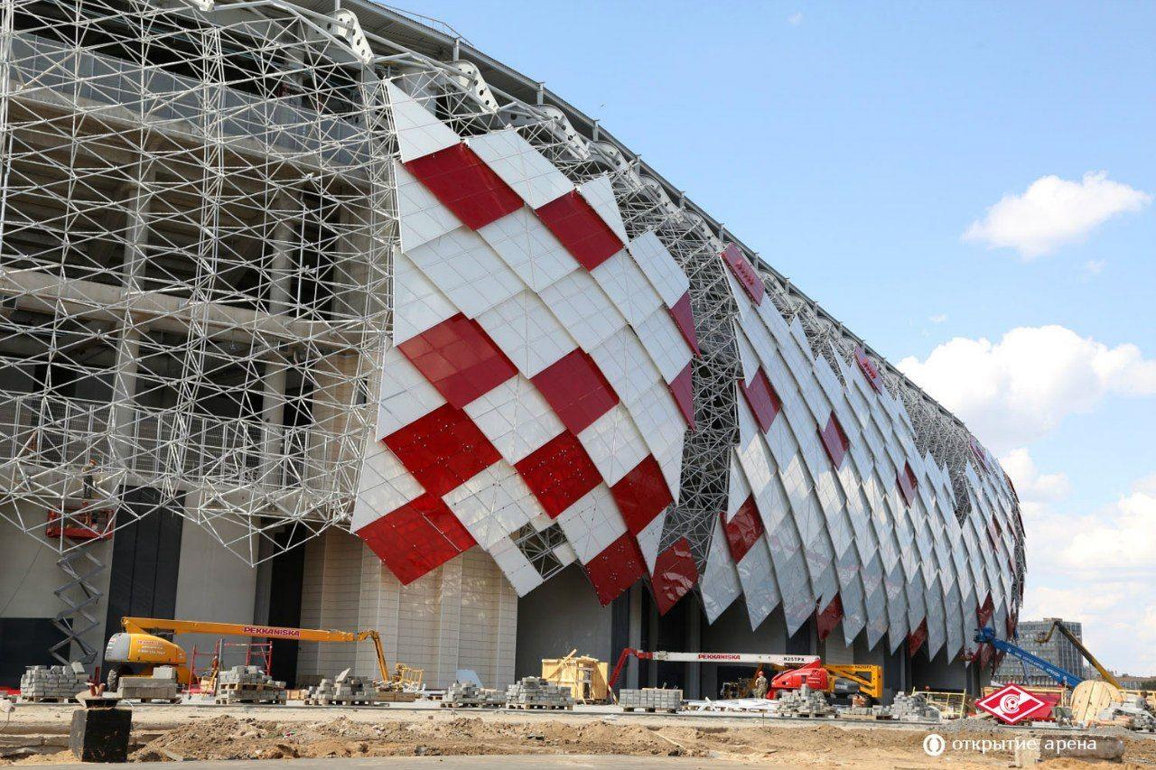 Fc Spartak Moscow Otkritie Arena 2018 Fifa World Cup Stadium Design Sport