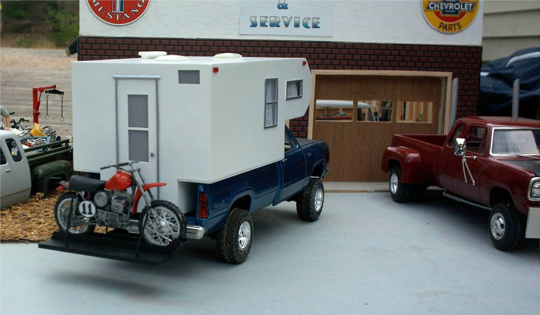 Junkyard Models | Dodge Pickup Truck Camper & Dirt Bike | Junkyard ...