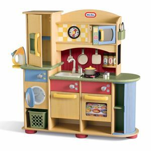 Deluxe Wooden Kitchen & Laundry Center from #littletikes ...