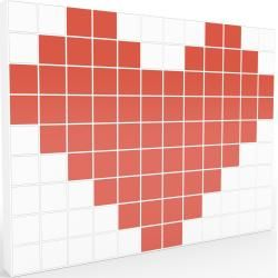Photo of Storage wall white – individual designer shelf wall: doors in red – high quality materials – 464 x 349