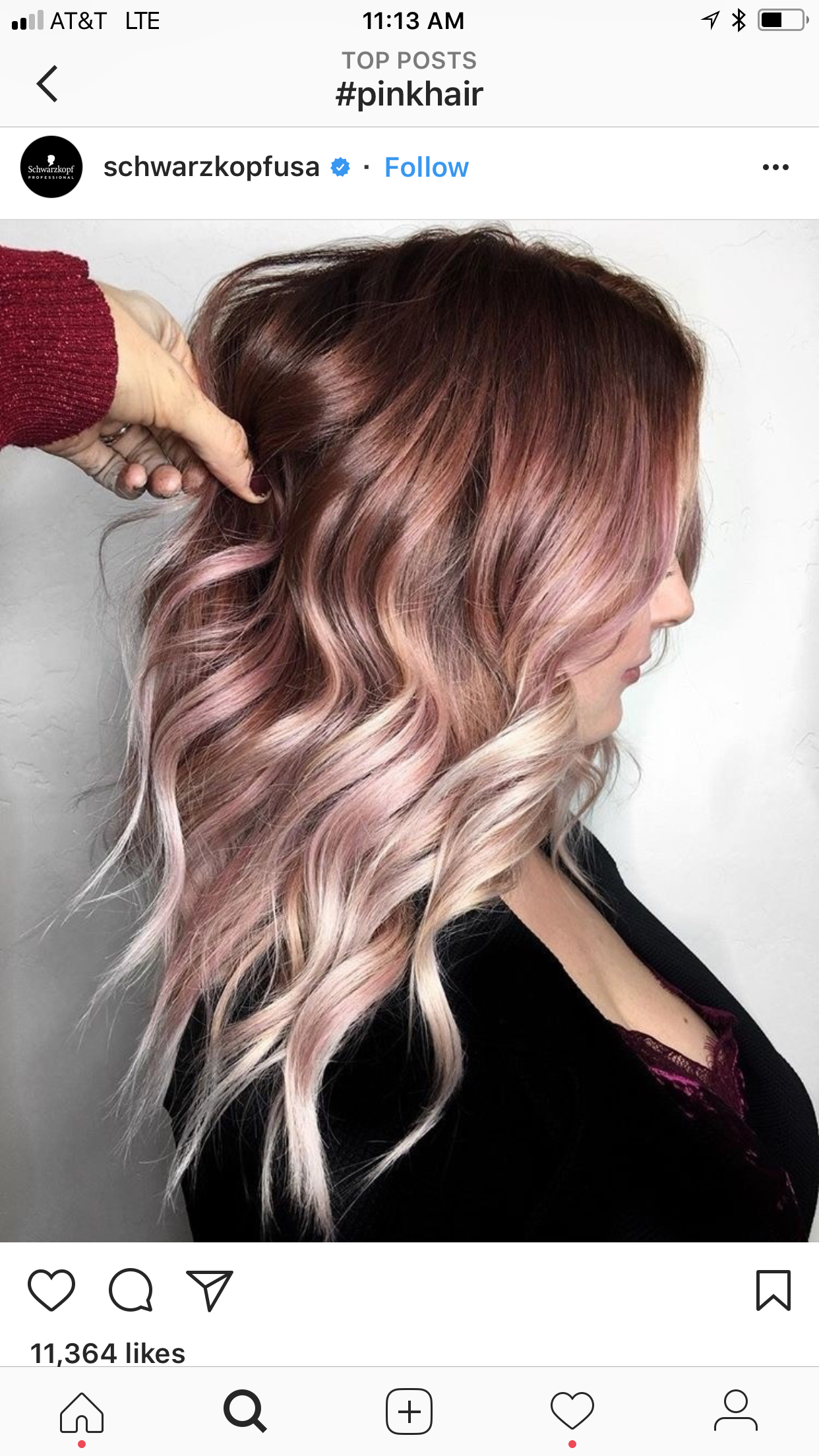 Ombre Hair Color Fade Dark Brown Pastel Pink Rose Gold Blonde