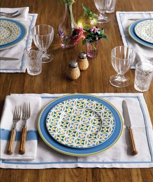 How to Set a Pretty Table | Salad plates, Table settings and ...