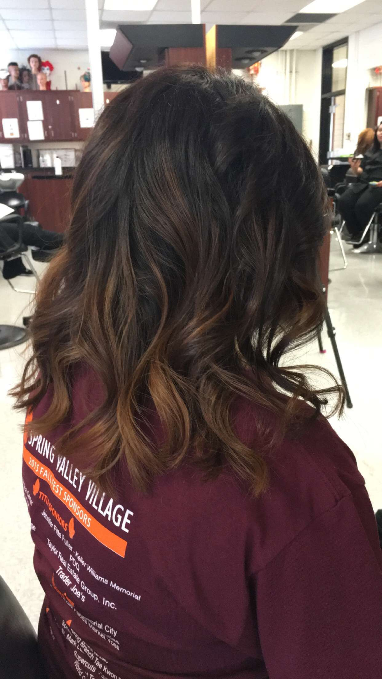 Balayage Short Hair Warm Brown Caramel Mechas