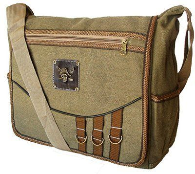 Classic Military Style Messenger Bag Lap...