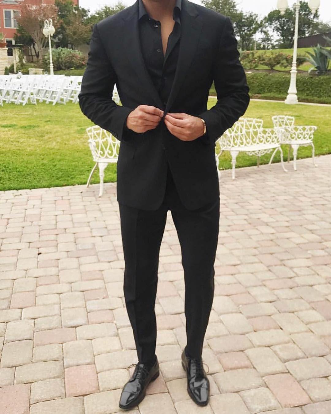 3 820 Likes 16 Comments Men Style Class Fashion Menslaw On Instagram Class Style Suit Up Black Suit Men All Black Suit Mens Outfits [ 1350 x 1080 Pixel ]