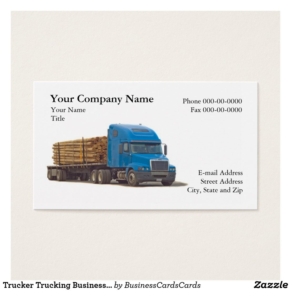 Trucker trucking business card trucker truck driver business cards trucker trucking business card custom check out more business card designs at httpzazzlebusinesscreations or at httpzazzle colourmoves