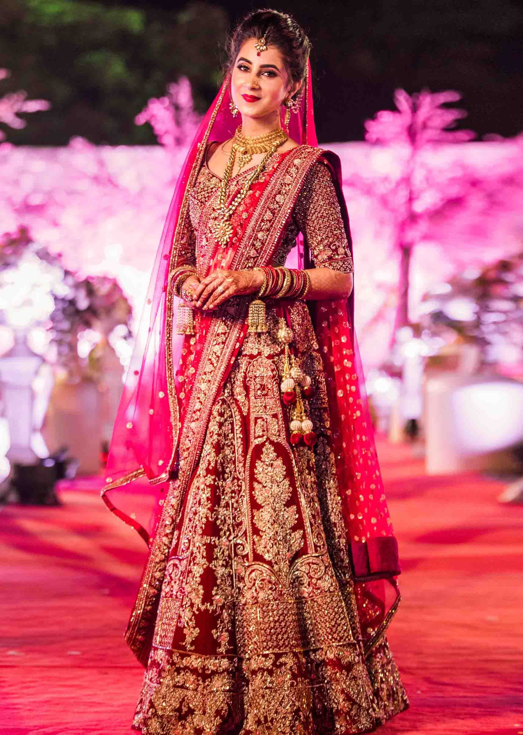 Most beautiful designer collection Bridal lehenga red