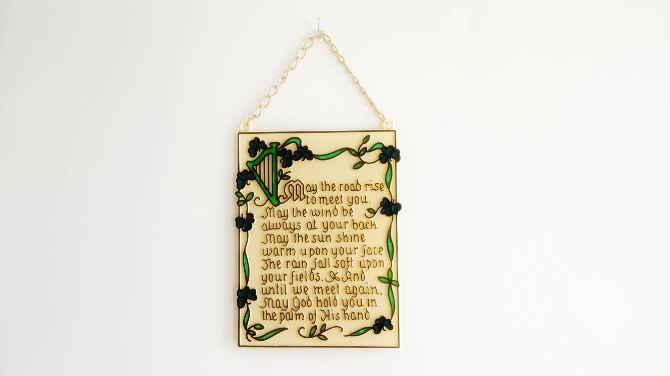 Vintage Irish Blessing Quote Wall Hanging Decor Irish Toast by ...