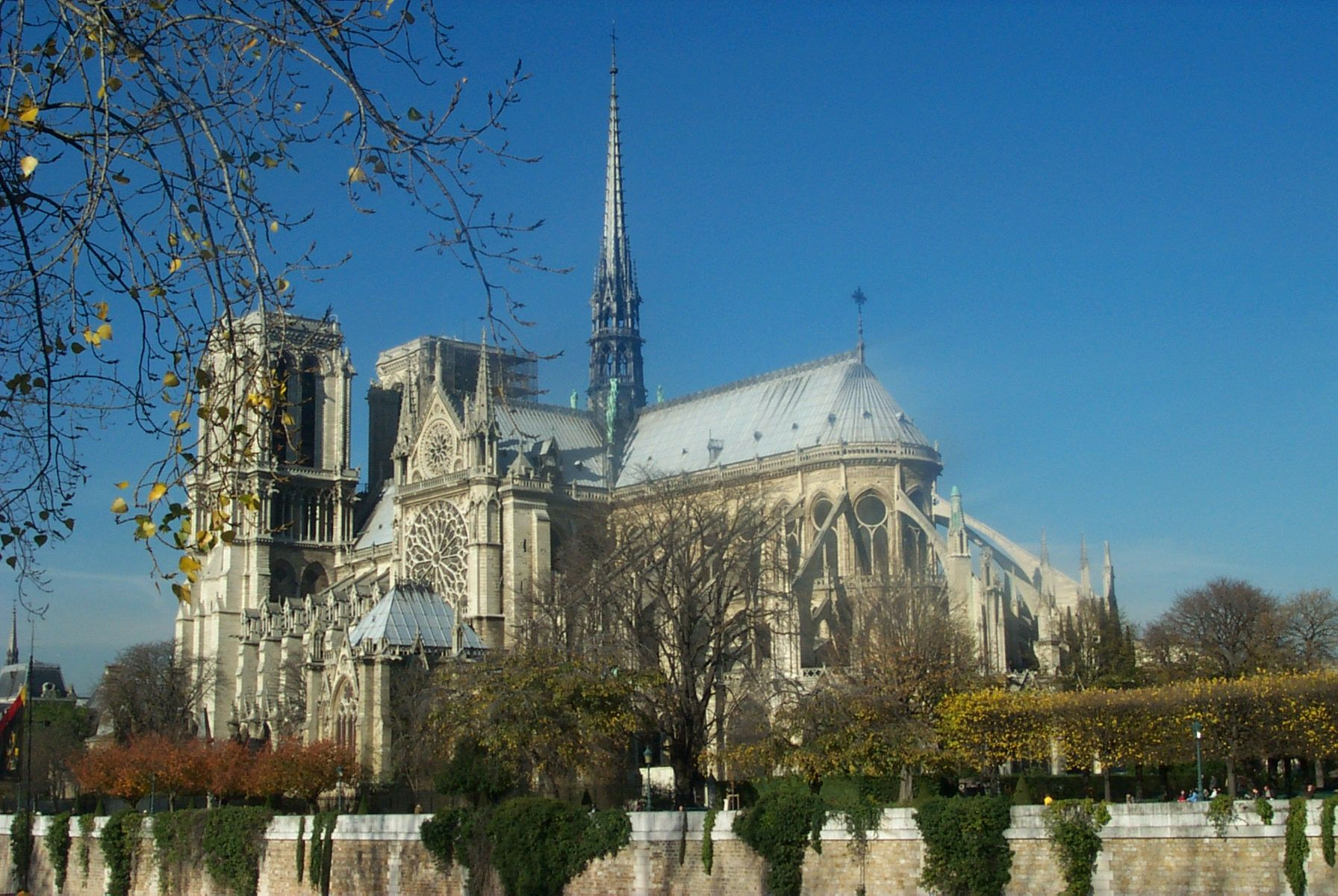 Favorite view of Notre Dame (from rear taken from the bridge from the Left Bank. Great neighborhood!)