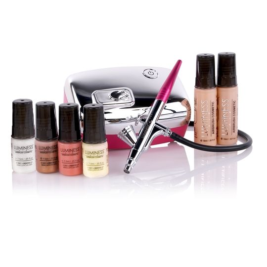 Get A Flawless Makeup Look With Luminess Airbrush Makeup System Look Photo Ready In Seconds Airbrush Makeup System Airbrush Makeup Kit Makeup Starter Kit