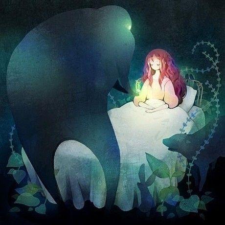 森系 手绘 艺术设计 插画 嘀咕图片
