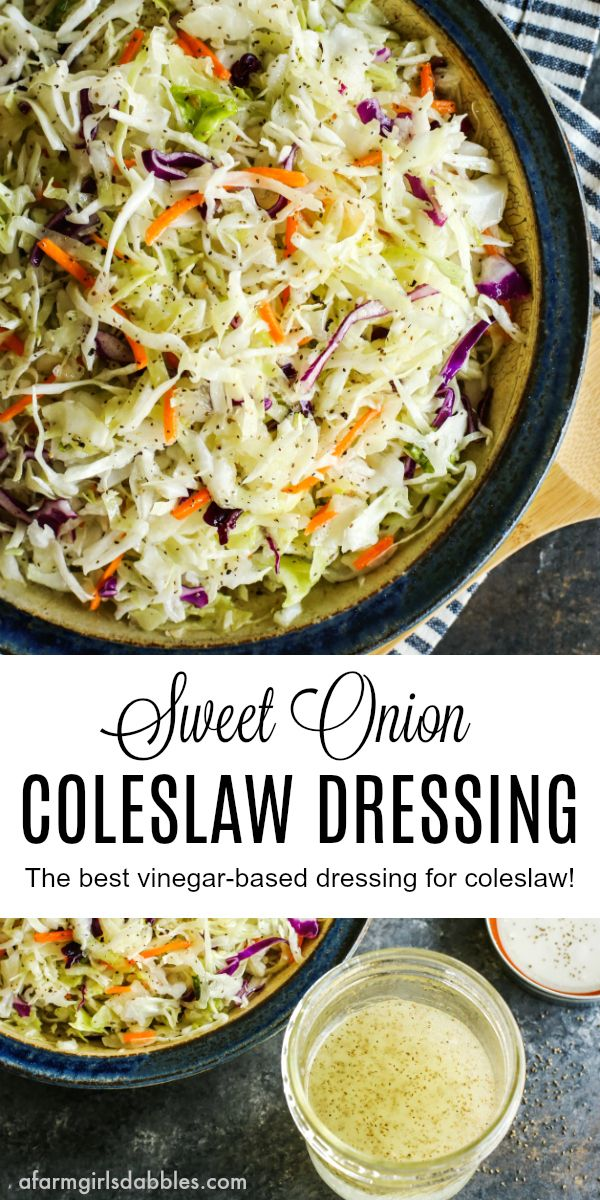 This Vinegar Coleslaw Dressing recipe is fresh and