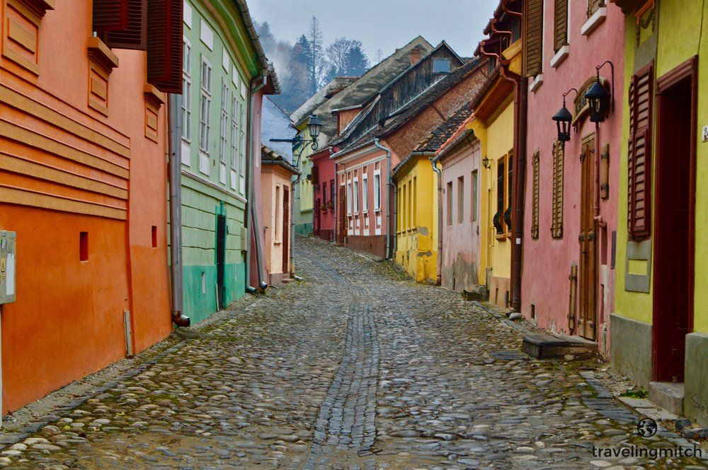 Despite the dreary weather in April, I really enjoyed visiting Romania. In  fact, in a strange way, the gray skies and blustery winds sort of suited  the country. Bri and I visited Bucharest, Braşov, Sibui, Sighisoara, and  one very epic castle. The cost of food and drink isn't all that much in
