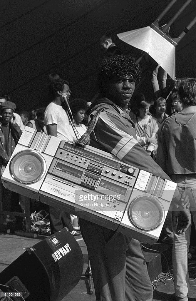 1980s: Photo of GHETTO BLASTER and STREET STYLE;