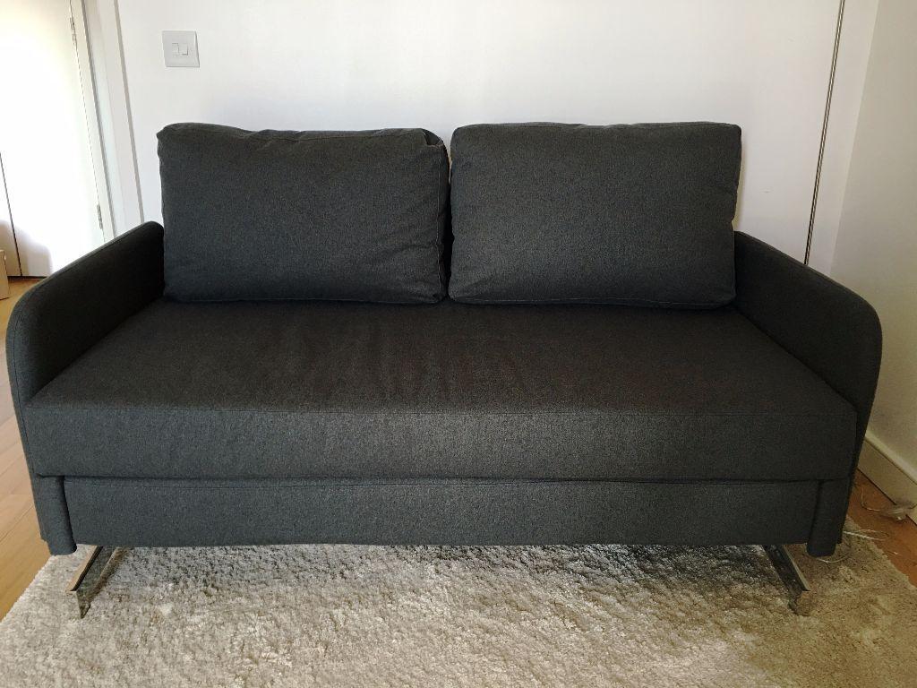 Enjoyable As New Made Motti Sofa Bed Bunting Grey Kennington Machost Co Dining Chair Design Ideas Machostcouk