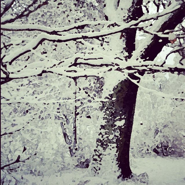 A winterwhite painting from my photo. Beautiful Stockholm covered in snow.