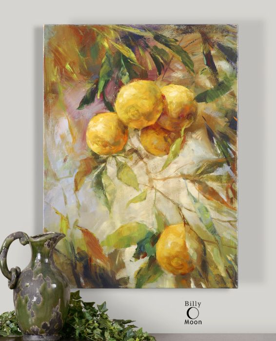 Heavy with Fruit Canvas Painting | Yellow Green | Pinterest | Summer ...
