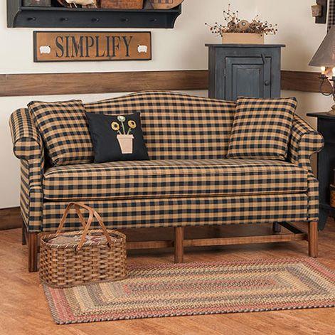 Furniture Primitive Living Room, Country Primitive Upholstered Furniture