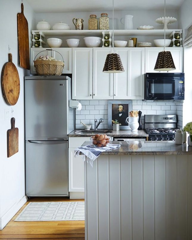 20 Decor Ideas To Make Your Tiny Kitchen Feel Huge Via Brit  Co Prepossessing Very Small Kitchen Designs 2018