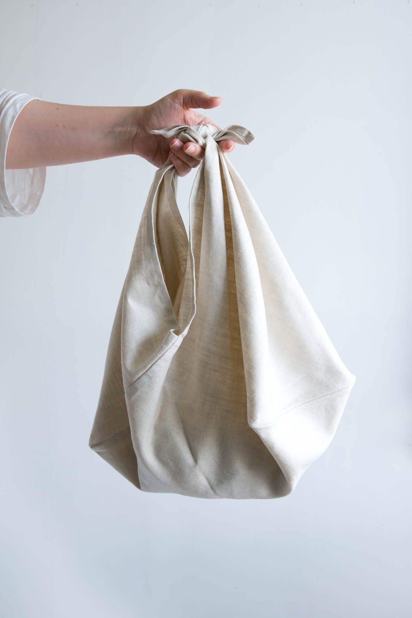 Large azuma bag origami bag triangle bag zero waste plastic free shopping bag produce bag