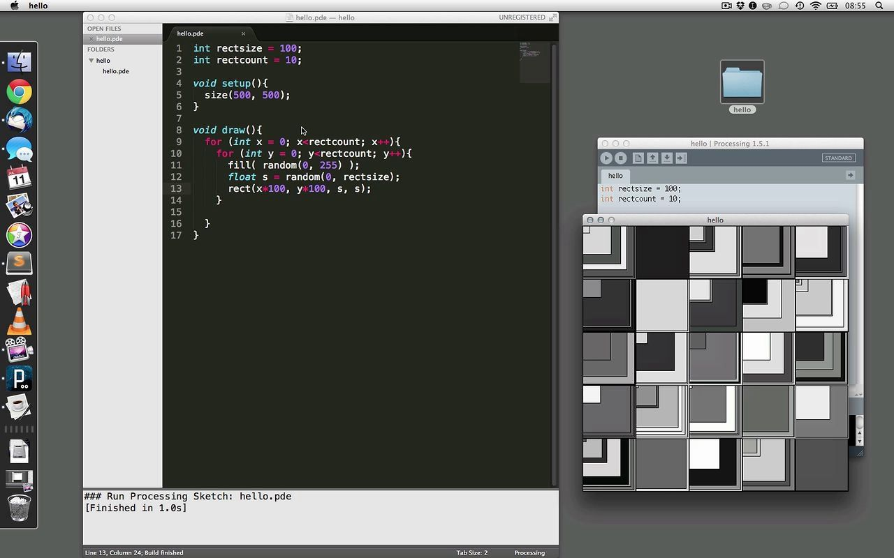 Demo ProcessingBundle For Sublime Text Texts, Getting