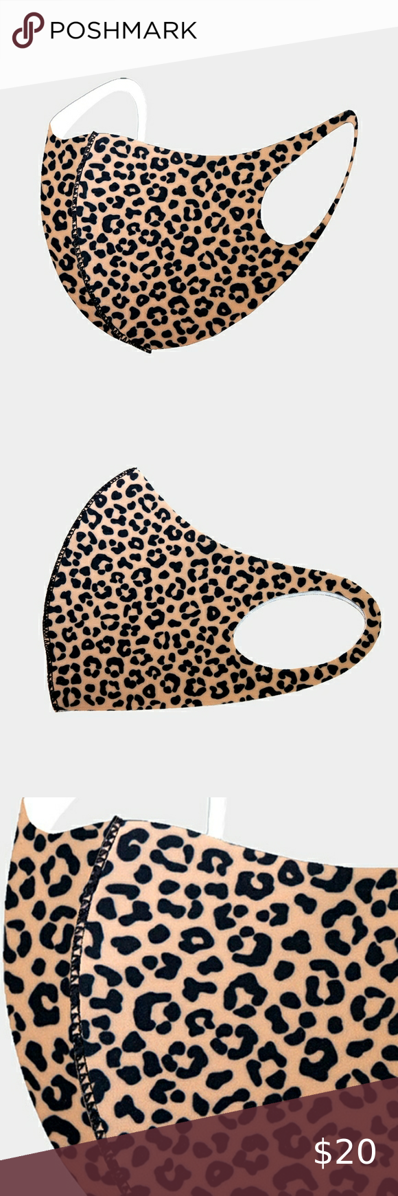 Brown And Black Leopard Print Fashion Face Mask Leopard Print Fashion Fashion Prints Fashion Face Mask