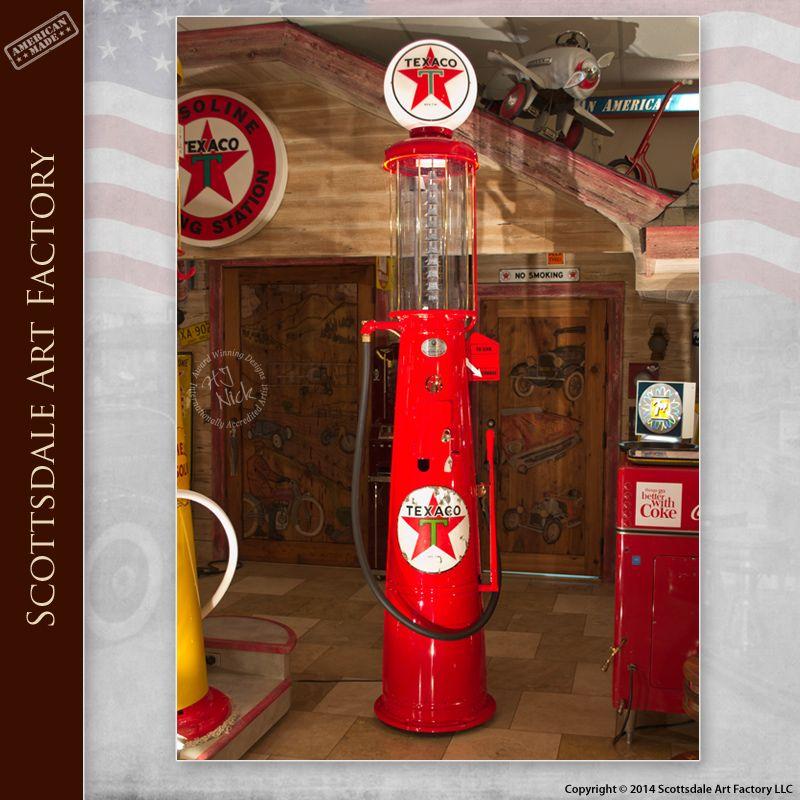 Restored Wayne Visible Gas Pump Original Authentic Texaco Signage