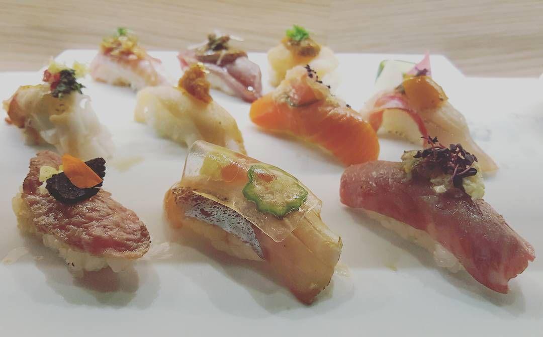 Miku signature selection. #aburi #nigiri #sushi #love #Japanese #cuisine #yummyinmytummy #foodporn #foodcoma #foodie #foodstagram #torontoeats #torontolife #thesix by _petiteaimee