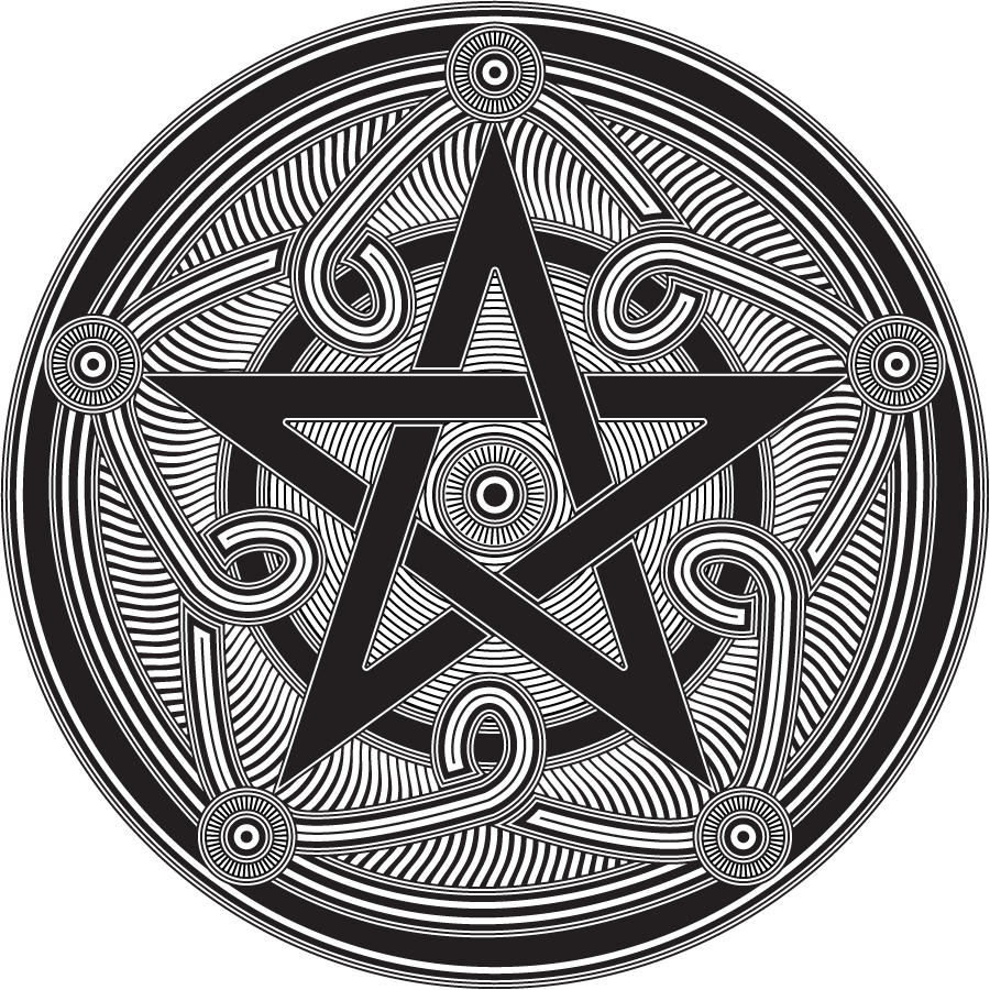 Pentagramm In Lineart By Illustratorg On Deviantart Pentagram Tattoo Pagan Symbols Wicca Pentagram