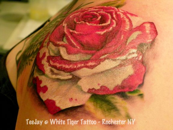 Paint The Roses Red Tattoos Rose Tattoos Tattoos White Rose