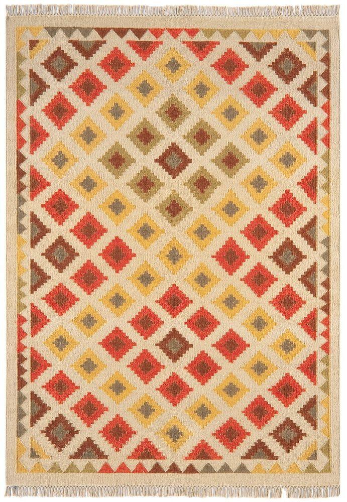 Details zu Teppich Wohnzimmer Orient Carpet persisches Design KELIM - wohnzimmer orange beige