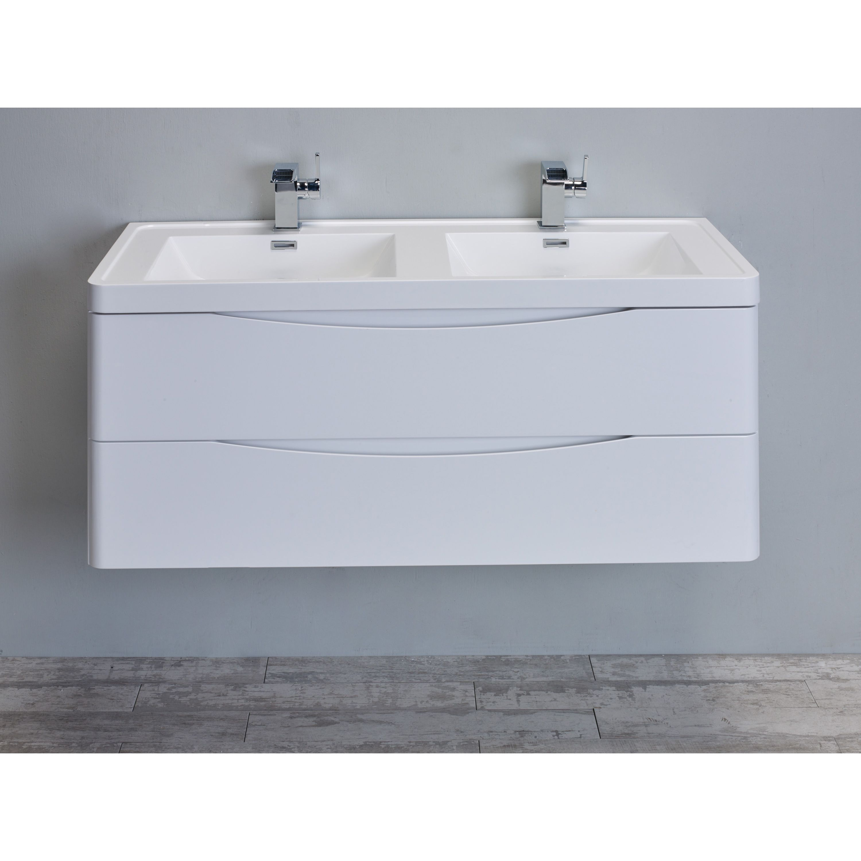 Eviva Smile 48 Glossy Modern Bathroom Vanity Set With Integrated