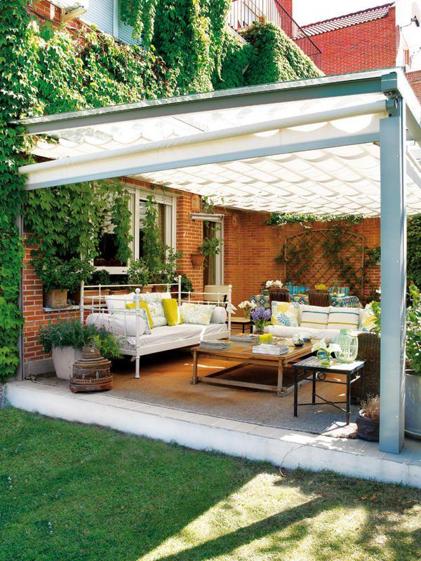 Un porche independiente en 2019 garden decoraci n de - Cortinas para tragaluz ...